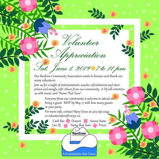 2019 Renfrew Volunteer Appreciation